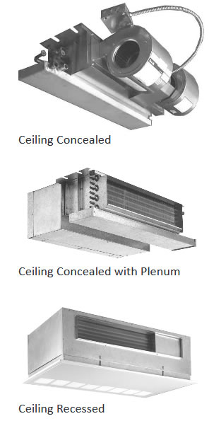 Hydronic Cassette Concealed Ceiling Air Handlers For Air