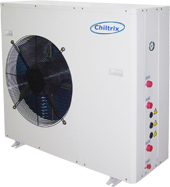 Home. office or residential small chiller heat pump air conditioner