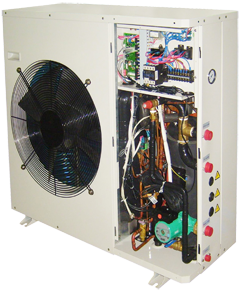 Chiller ODU with cover removed
