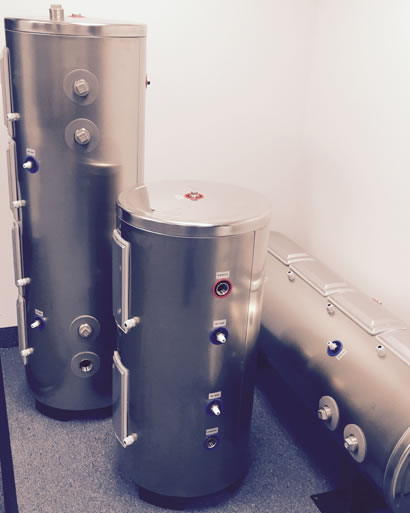Small Stainless Steel Chilled Water Buffer Tanks   Buffer